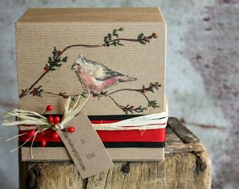 Original Art Jam Gift  Box Selection of One Eight ounce Jar of  your choice of Seasonal Jams
