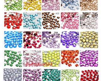 3mm 1000 pieces / 40 Colors Rhinestones Resin Flatback 14 Fact High Quality ( Choose Your Colors)