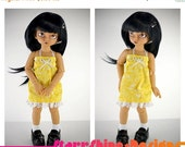 Sale 25% Off BJD YoSD 1/6 Doll clothing - Sundress in Yellow Floral LIMITED