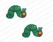 UNCUT Vinyl  Caterpillar applique embellishment with a felt back (2)