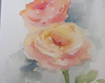 Two Peach Roses C536