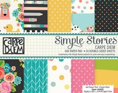 Simple Stories - Carpe Diem - 6x6 Paper Pad - 24 Sheets - 6622