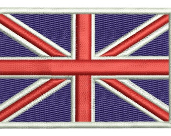 Great Britain flag embroidery design - Machine Embroidery Design instantly download
