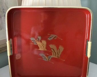 Vintage lacquer ware tray