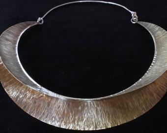 Fold Formed Neckpiece in Brass