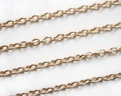 5m ROSE GOLD link chain