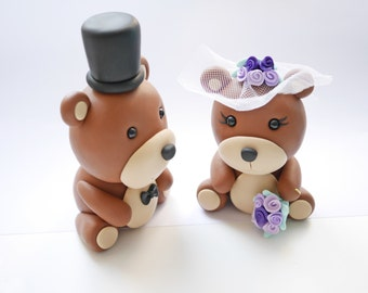 Bears wedding cake toppers