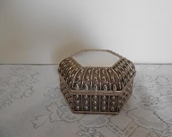 Silver Plated Jewelry/Trinket Box
