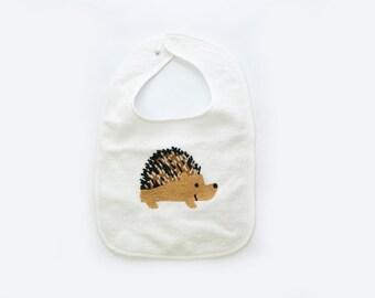 Baby Bib, Baby Gift, Hedgehog Bib
