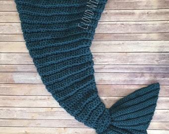 Mermaid Tail Blanket, Afghan, Crochet