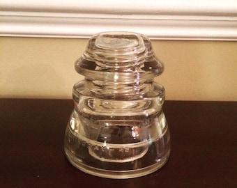 Clear Glass Hemingray Insulator