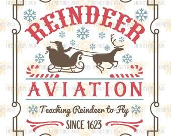 Reindeer Aviation svg Christmas svg Christmas decor svg Holiday decor svg Winter decor svg Reindeer svg Silhouette svg Cricut svg eps dxf