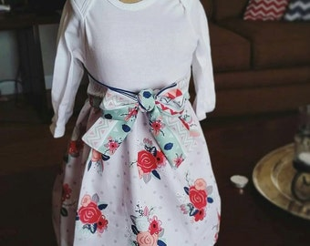 Floral Dress with Matching Belt