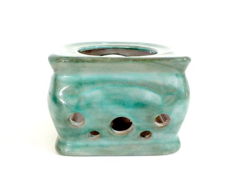 Stangl Pottery Candle Warmer, Warming Stand, Stangl Warming Plate, Milky Blue Green Glaze