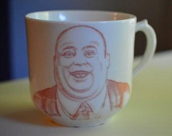 Ironstone Greedy Mug Fat Man 1908 William Howard Taft Campaign Mug