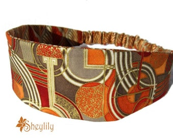 Golden Brown Headband for Women by Sheylily