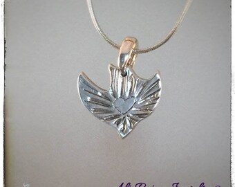 Christian jewelry christian sterling silver charm, inspirational charm , holy spirit necklace, religious charm, alipaige jewelry
