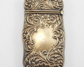Victorian Ornate Repousse Sterling Matchsafe