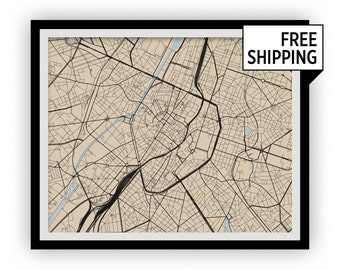 Brussels Map Print - Any Color You Like