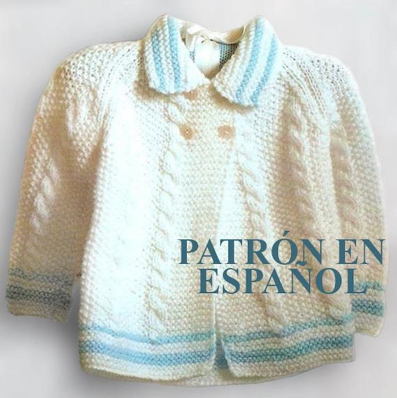 Knitting Crochet In Spanish : Baby sweater knitting pattern
