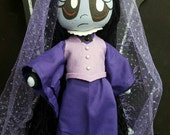 "Basic 10"" Misery art cloth doll ~ Gloomsville Ruby Gloom's friend *options"