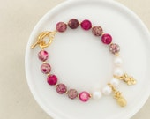 LIMITED EDITION - Summer Glow Charm Bracelet -  Gold Hardware - Summer Collection