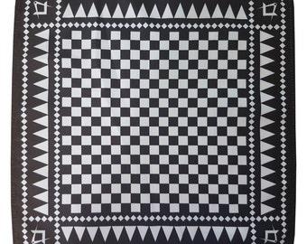 Freemasons - Masonic Craft Pocket Square Handkerchief with S&C