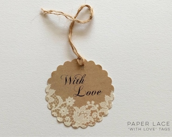 Paper Lace With Love Tags - Pack of 5