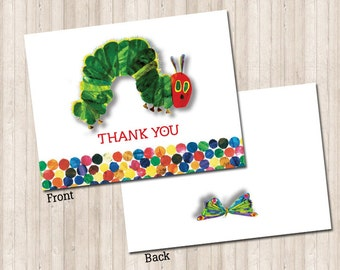 The Hungry Caterpillar Thank You Note
