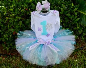 Winter ONEderland Wonderland Birthday Girl Outfit