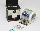 NEW Washi Tape-Polaroid Camera-1 Roll 10m x 40mm.Masking Tape. Adhesive-DIY. Gift wrapping. Tag Making. Scrapbooking.Patterned Tape