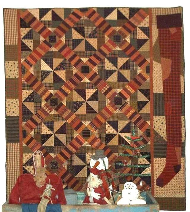 Primitive Folk Art Quilt Pattern Best Of All : Primitive Folk Art Quilt Pattern Santa Jack by FiddlestixDesign