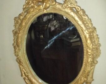 SALE : Rococo style Gold Cherub Wall Mirror