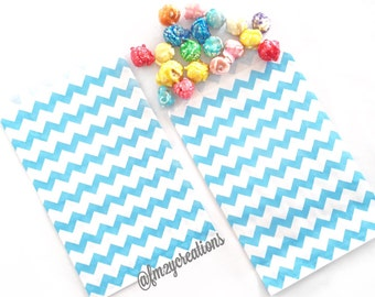 Blue Chevron Favor Bag | Blue CHEVRON Favor Bags | Blue Favor Bag (5x7) | Blue Treat Bags | Boy Birthday Party | Boy Baby Shower Blue Party