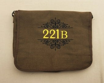 221B Embroidered Messenger Bag (Home Embroidered)