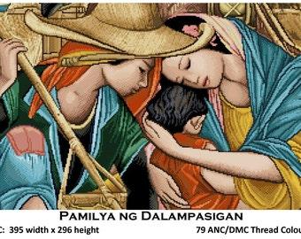 Pamilya ng Dalampasigan (Family of the Sea) - Cross Stitch Pattern Pdf