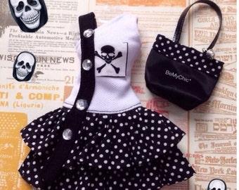 Blythe Dress Pullip Dress Cloth Outfit Skull Punk Rock  Dress SALE*