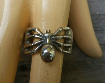 Spider ring sterling silver