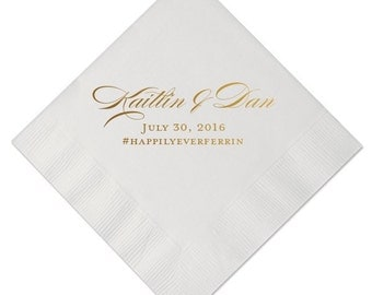 Cocktail Napkins   Personalized Fall Diamond Embossed   My Wedding