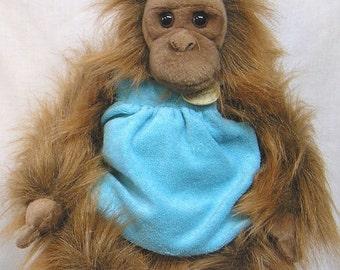 ON SALE Vintage Stuffed Plush Toy Orangutan Monkey Myoni by Aurora