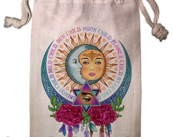 Star Child Wild Child Tarot Bag -  Pagan Wiccan  - Brigid Ashwood