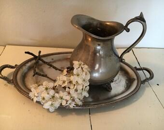 Silver vintage pitcher creamer