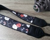 Roses Camera Strap. Flowers Camera Strap. Camera Strap For Women. Camera Accessories