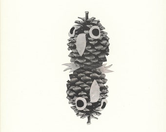 Double Pinecone All The Way Collage