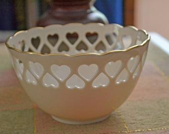 Vintage Lenox Bowl Heart Cutout