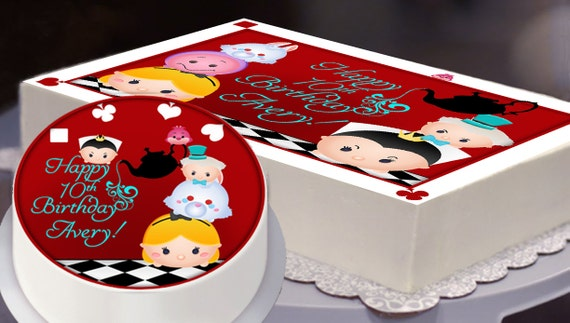 Edible Cake Topper Alice in Wonderland Tsum Tsum Party Tsum