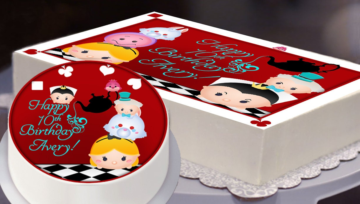 Edible Cake Topper, Alice in Wonderland, Tsum Tsum Party ...