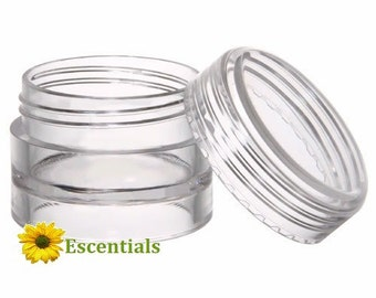 Clear Lip Balm Pots - 50 Pack