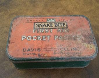 Davis snake bite kit early 1900's