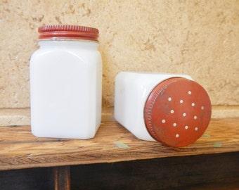 Milk Glass Salt & Pepper Shakers